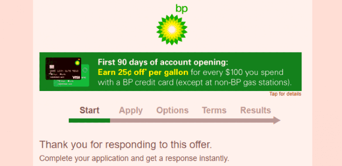 MyBPCreditCard comes with some great offers for its users