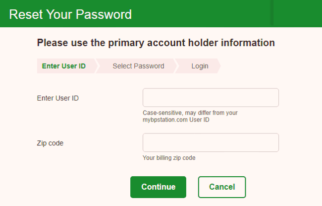 Resetting password on the MyBPCreditCard portal is not a tedious task at all